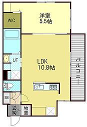 LUSSOVITA(ルッソヴィータ) 3階1LDKの間取り
