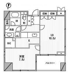 アーデンタワー福島ウエスト[505号室]の間取り