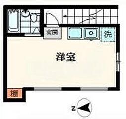 東京都渋谷区円山町の賃貸アパートの間取り