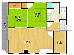 宝塚グリーンハイツ2[3階]の間取り