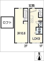 [タウンハウス] 愛知県大府市月見町1丁目 の賃貸【/】の間取り