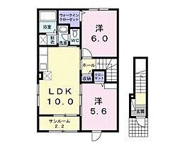 グランシャリオ桜屋敷[203号室号室]の間取り