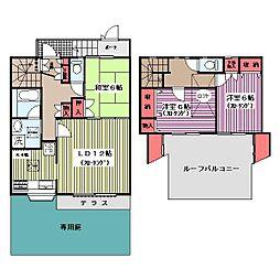[テラスハウス] 神奈川県横浜市青葉区梅が丘 の賃貸【/】の間取り