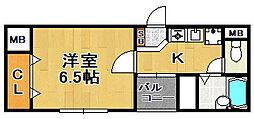 マンション雅[5階]の間取り