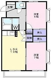パストラル湘南台[2階]の間取り
