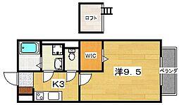 セジュールNAKAMURA[2階]の間取り