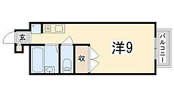 APT雄徳山[107号室]の間取り