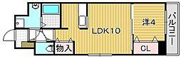 アンフィニVIII 7階1LDKの間取り