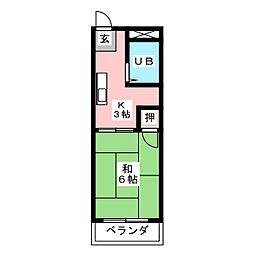 モアレピュート道徳[1階]の間取り