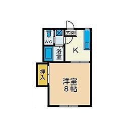 第2コーポミカ[2階]の間取り