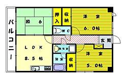 シーサイド三苫No.2[2階]の間取り