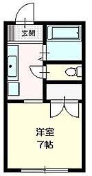 アジュール2階Fの間取り画像