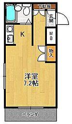 ジョイフル北武庫之荘[105号室]の間取り