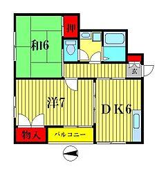 ハイツフローラ[1階]の間取り