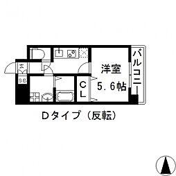 グランシス高井田[1108号室号室]の間取り