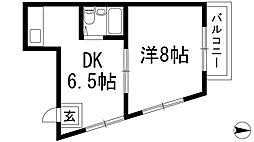 兵庫県川西市東畦野1丁目の賃貸マンションの間取り