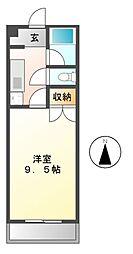 エクセレント西可児[4階]の間取り