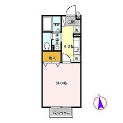 セレーノ B[2階]の間取り