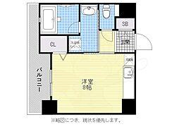 福岡市地下鉄空港線 大濠公園駅 徒歩6分の賃貸マンション 5階1Kの間取り