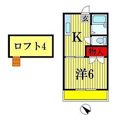 メゾンクレスト[102号室]の間取り