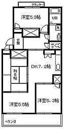 メゾンファミーユ[402号室]の間取り