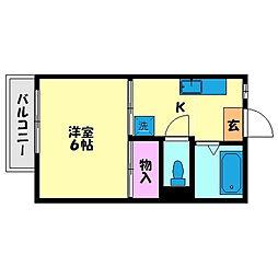 高良山コーポ[207号室]の間取り