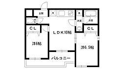Casa ベラヴィスタ西宮北[203号室]の間取り