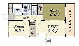 MEZON KAJI[2階]の間取り
