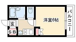 愛知県名古屋市南区豊田1丁目の賃貸マンションの間取り