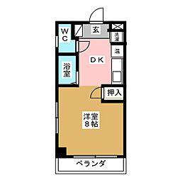 ハミュー吉塚[1階]の間取り
