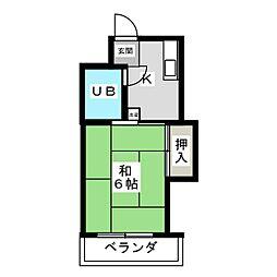 中央ビル[3階]の間取り