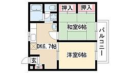 愛知県名古屋市緑区旭出3丁目の賃貸アパートの間取り