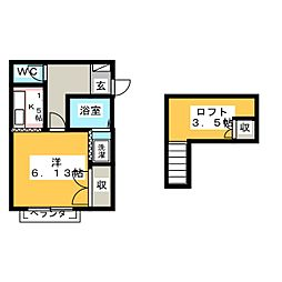 マリノス[2階]の間取り