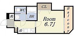 ラグゼドーム前II[5階]の間取り