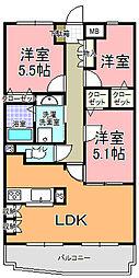 ベル・エポック21[201号室]の間取り