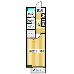 愛知県名古屋市中川区万場1丁目の賃貸アパートの間取り