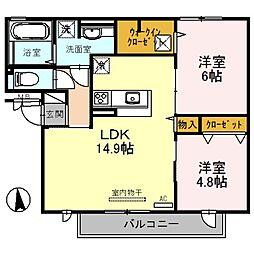 (仮称)D-room高美町[3階]の間取り