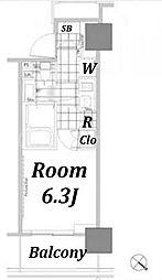 パークハビオ赤坂タワー[902号室]の間取り