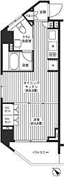 東京都渋谷区宇田川町の賃貸マンションの間取り