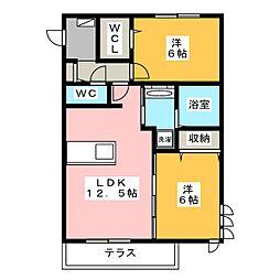 Recente和田 B[2階]の間取り
