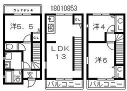 大阪府大阪市阿倍野区播磨町3丁目の賃貸アパートの間取り