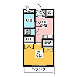 園山ハウス[2階]の間取り