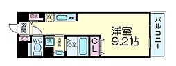 DAIWA RESIDENCE IBARAKI 7階1Kの間取り