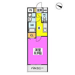 仮)ハイツウェルス4九大マンション 1階1Kの間取り
