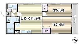 エスポワール[301号室]の間取り