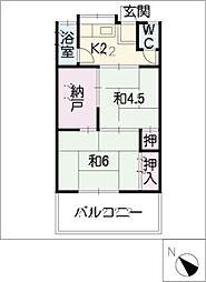 姥子荘B[1階]の間取り
