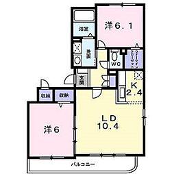 ソレアードⅡ[2階]の間取り