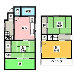 [一戸建] 愛知県名古屋市南区松池町1丁目 の賃貸【/】の間取り