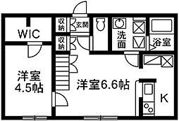 プリマ前橋朝倉204[2階]の間取り