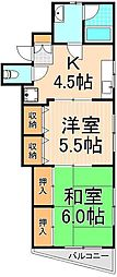 ソレイユ吉田[2階]の間取り